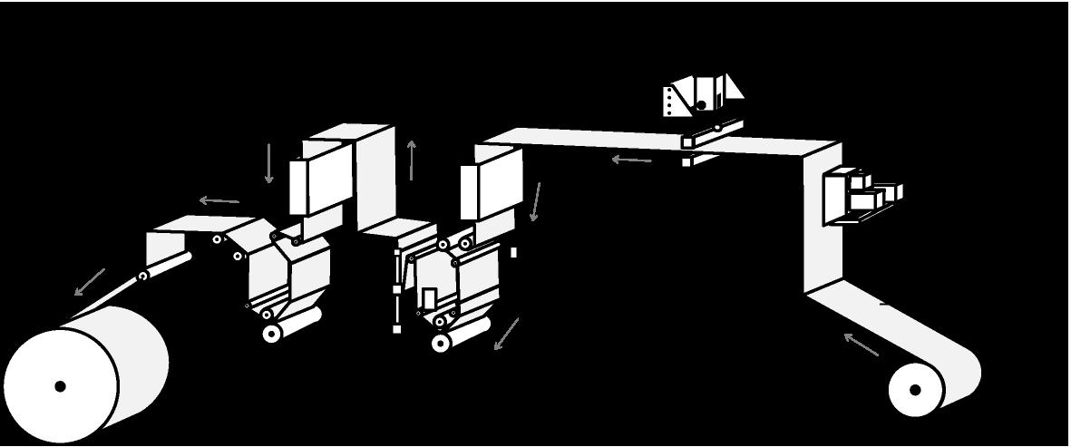 Gravure printing press illust